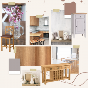 Furniture factory blog post moodboard dining room